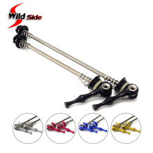 Ultralight 45g/pair Titanium Ti Axis Skewers QR MTB Road Bike Bicycle Quick Release Front 100 Rear 130/135mm Wheel Hub Skewers(China)