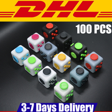 Buy 100 PCS Stock DHL Wholesale Fidget Cube Toys Puzzles Magic Gift Anti Stress Reliever 11 Colour Click Glide Flip Spin for $199.00 in AliExpress store