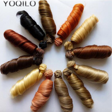 1PCS Retail 15CM Synthetic Doll Curls Natural Colors BJD Wig Hair Curly Hair For Doll DIY