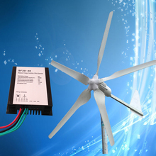1000W 48V Wind Turbine Generator 5PCS Blades with Tail Turned Brake Protection + 2000W 48V Wind Charge Controller, CE Approval(China)