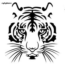 Rylybons brave tiger sticker for car body glass window wall smooth surface 11.5x12.6 cm half price for 2nd one(China)