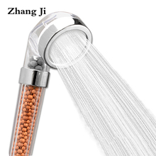 Hot SPA Therapy Shower Head Water Saving High Pressure Transparent Hand Shower Head Water Filter Rainfall Handheld Nozzle ZJ013