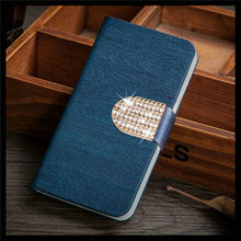 PU Leather Phone Case For LG Magna H502F H500F Flip Phone Cover Stand For LG Magna With Shiny Diamond