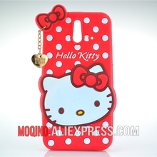 For HTC One E8 Case 3D Lovely Cute Hello Kitty Kt Cat Silicon Back Case Soft Cover Phone Case