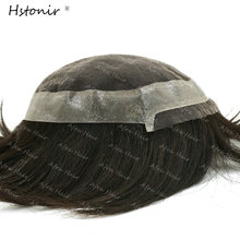 Mens Toupee Swiss Lace With PU Around Toupee Remy Hair 1B Mens Hair Pieces Light Density H030