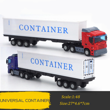1:48 Scale Simulation Heavy Trucks Alloy and ABS Plastic Container Truck/Double Mudstone Truck/Container Truck