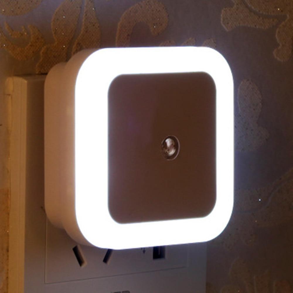 SuperNight Square AC LED Night Light Intelligent light control Sensor Home Decor Wall Lamp Corridor Stairs Bedroom Bedside Lamp (12)