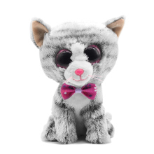 New TY Beanie Boos Big Eyes Small Gray Cat Plush Toy Doll Kawaii TY Original Stuffed Animals for Children's Christmas Gifts Toy