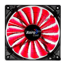 Red Aerocool 12V 4Pin &3Pin 120mm x 25mm 12025 Cool Fashion 15 Shark fin leaves Mute Red Color PC Case System Cooling Fan
