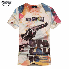 Man si Tun The Latest 2017 Summer Style 3D T Shirt Men Arrival Hip Hop Street Style Double Side Printed Slim Fit V-Neck T-Shirt