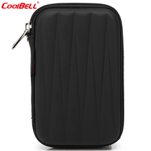 Waterproof Electronic Accessories Bag For Hard Drive Organizer bag Earphone Cables USB Flash Drive Travel Case HDD bag(China)