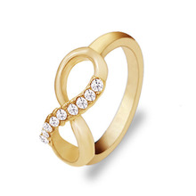 New Korean fashion pour 8 word alloy with ring all-match simple ring jewelry luxury temperament female Free Shipping
