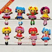 Wholesale,100Pcs  Lalaloopsy  PVC shoe accessories/shoe charms For Silicone Wristbands&shoes with holes,shoe buckle,fit for kids