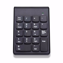 Wireless Numeric Chocolate Keyboard Ergonomics Bluetooth 3.0 ABS Plastic Key Keyboard Plug-and-play For Laptop Desktop(China)