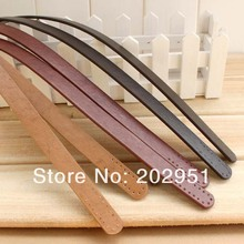 Freeshipping 20pcs= 10 pari /Lot 56cm long New PU Leather Shoulder Bag Handle DIY Purse Strap 3 color available,mixed is OK