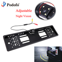 Buy Podofo Car Rear View Camera EU European Car License Plate Frame Waterproof Auto Car Reverse Backup Rearview parking Camera for $23.99 in AliExpress store
