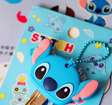 Kawaii Lilo Stitch 4CM Rubber KEY Wallet BAG ; KEY Wallet Holder Wallet Hook  Case