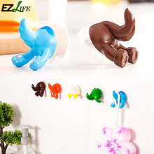 Cartoon Lovely Animal Tail Rubber Sucker Hook Key Towel Hanger Holder Hooks #KT0840