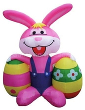 Hot sale cute event party supplies giant inflatable easter bunny with colorful egg for easter decoration
