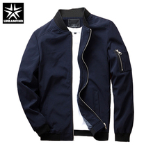 URBANFIND Black / Blue / Red Men Fashion Spring Jacket Plus Size M-4XL 2017 New Arrival Man Casual Zipper Coat