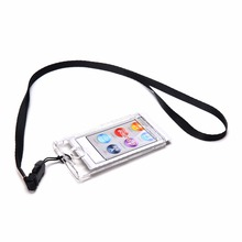 Clear Hard Plastic Case for Apple iPod Nano 7th Gen 7G Transparent Protective Cover Case + Detachable Neck Strap