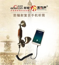 New European fashion Retro phone handset specifically on the mobile phone anti-radiation Headphones free shipping