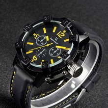 New Vogue Fashion V6 3D surface Case Black Male Analog Quartz Watch Military Men Business Casual Wrist watch relojes Hombre Gift(China)