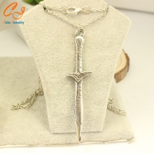 On sale in Europe and the popular movies around The Lord of the hobbit stab sword pendant necklace