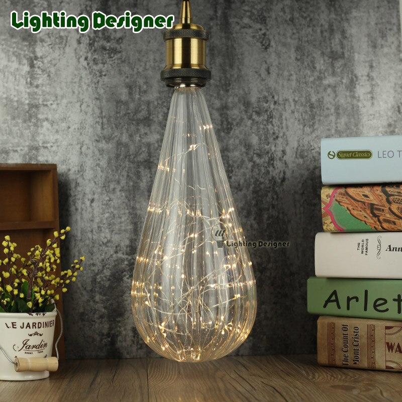 big size irregular Edison bulb LED vintage lamp bulb rainbow glass shape 1.8W 2700K warmth glow twinkle fairy light bulb<br>