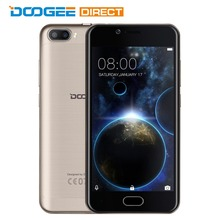 DOOGEE Shoot 2 5.0 inch Android 7.0 MTK6580 Quad Core 1GB+8GB/2GB+16GB 3G Smartphone 5.0MP Dual Rear Cameras Phone