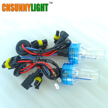 CNSUNNYLIGHT AC 12V 55W H1 H3 H7 H8/H9/H11 9005/HB3 9006/HB4 880/881 5202 Globes Bulb Headlights Xenon HID Conversion Lamp(China)