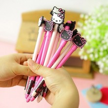 B23 2X Kawaii Hello Kitty Cute Silicone Gel Pen School Supplies Writing Stationery Kids Gift Rewarding Papelaria