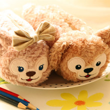 Plush toy 1pc 22cm cartoon Duffy bear zero case little stationery pencil bag stuffed toy creative gift for baby