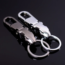 Metal Men Car Waist Hanging Keychain Leopard Head Charm Key chain for Jaguar Key Holder Ring Accessories