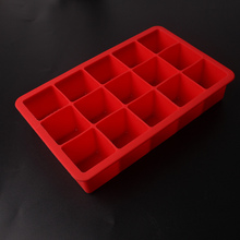 Ice Lattice Silicone Cube Mold Jelly Makers Kitchen Accessories 15 Grids Silicone DIY Ice Lattice Cube Mold Cream Tray Container
