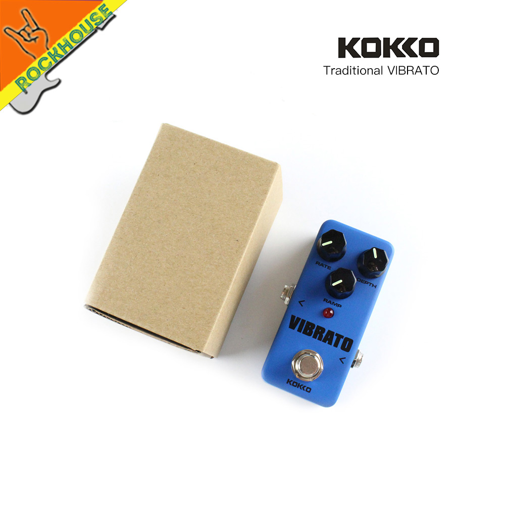 KOKKO Classic Vibrato Guitar Effects Pedal Portable Vibrato Guitar pedal Analog nature sound True Bypass Free Shipping<br>