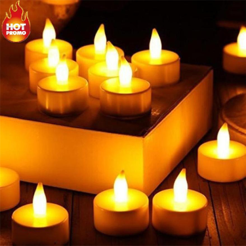 6pc LED Tea Light Candles Realistic Battery-Powered Flameless Candles09
