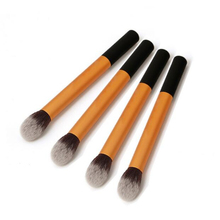 1 PC Professional Powder Blush Brushes Facial Beauty Foundation Makeup Brushes Tools Metal Handle Flame Shape Brush Head BO(China)