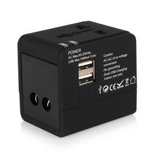 High Quality Universal World Travel Adapter Converter With Dual USB Charger UK/US/EU Plug