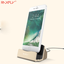 RAXFLY Phone Holder Charger For iPhone 7 7 Plus 6 6s Plus 5 5s SE 5C Cradle Charging Desktop Stand Station Adapter For iPad Mini