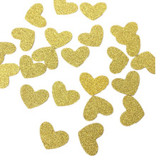 FaMaSuDu Heart Confetti Single Side Glitter Gold Pineapples confetti - Summer Party Confetti 2cm Glitter party Supply  2.5cm