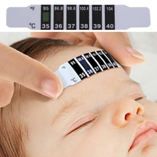 10Pcs Baby Kids Forehead Strip Head Thermometer Fever Body Temperature Test Safe(China)