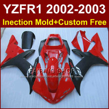 Red black custom fairing for YAMAHA bodywork YZF1000 02 03 YZFR1 2002 2003 yzf r1  molde body parts Aftermarket +7gifts
