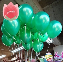 10pcs 10inch Green latex balloon air balls inflatable wedding party decoration birthday kid party Gift Float balloons