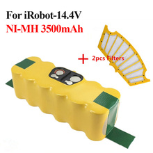 For iRobot Roomba 14.4V 3500mAh Ni-MH Vacuum Cleaner Rechargeable Battery Pack Replacement for 500 550 560 780 800 +2pcs Filters