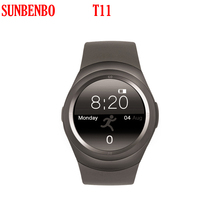 Newest T11 Bluetooth 3.0 LE Smart Watch Life Waterproof Heart Rate Monitor Anti-loss Technology Support TF SIM for Android IOS(China)