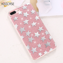 KISSCASE Girly Case For iPhone 6 6s Plus 7 7Plus Stars Plating Fashion Phone Cover Capa For Apple iPhone 6 s 7 Plus Fundas Coque