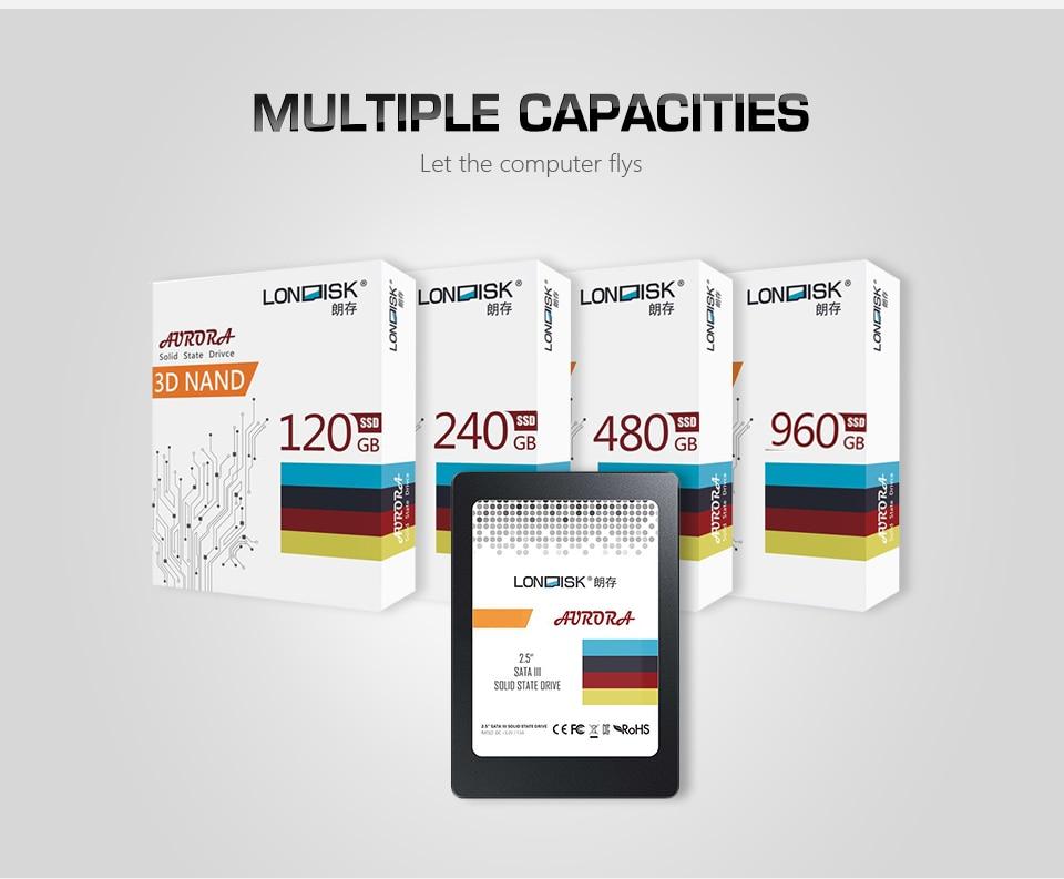Londisk SSD 120GB 240GB 480GB SATA hdd ssd Internal Solid State Disk 120 240 480 Hard Drive SSD Sata3 2.5 for Laptop Desktop PC