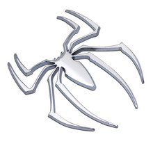 Car Styling Accessories 3D Metal Sticker Chrome Spider Shape Emblem Logo Motorcycle Decal For VW Audi Jeep Opel Skoda Benz Ford(China)