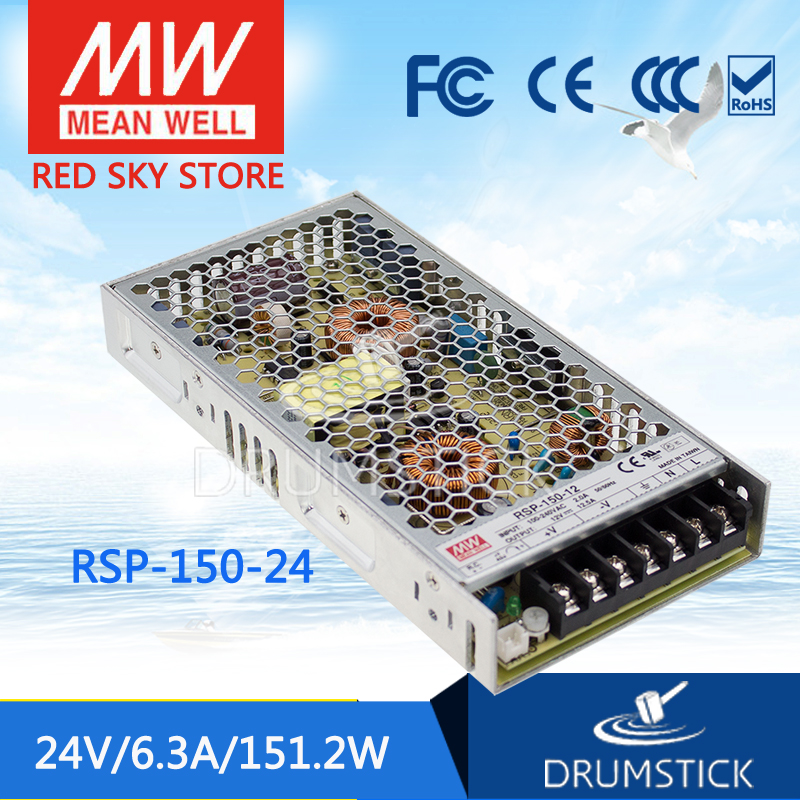 Genuine MEAN WELL RSP-150-24 24V 6.3A meanwell RSP-150 24V 151.2W Single Output with PFC Function Power Supply<br>